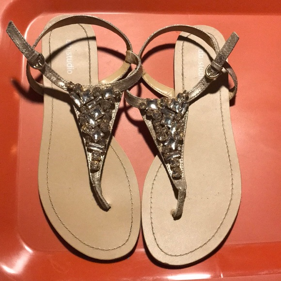 45606df9a7e2c Bedazzled flip flops. Rose gold beads